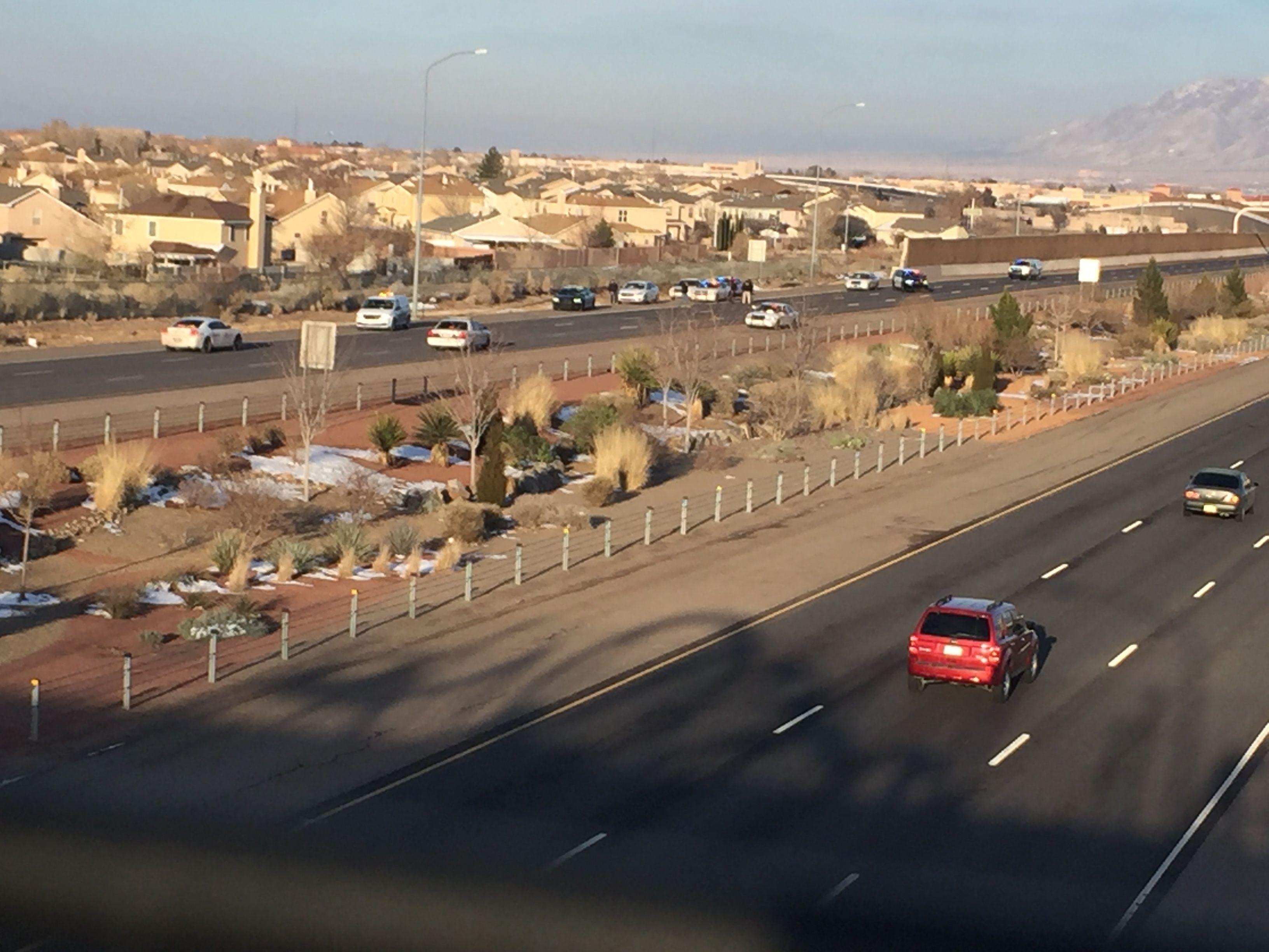 Fatal pedestrian crash closes I-40 WB at Coors