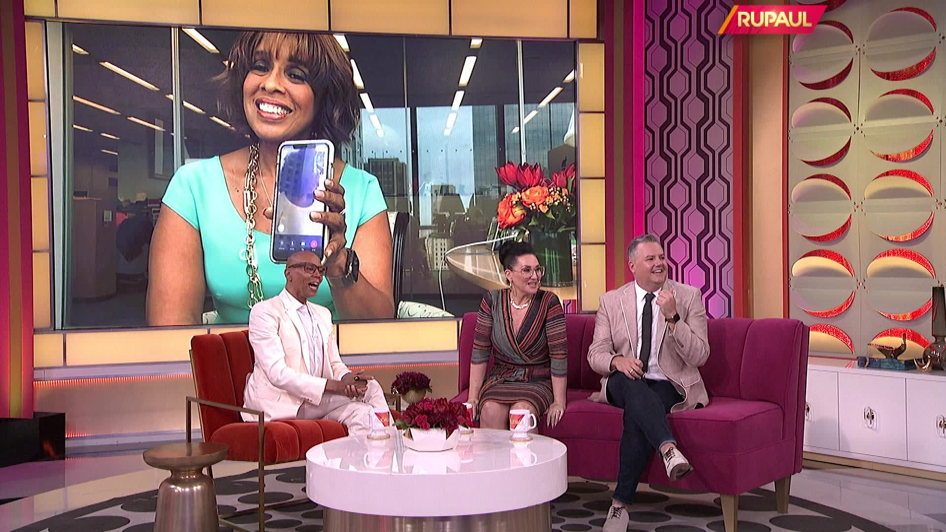 Exclusive: Watch Oprah Surprise RuPaul with the Help of Gayle During His Talk Show