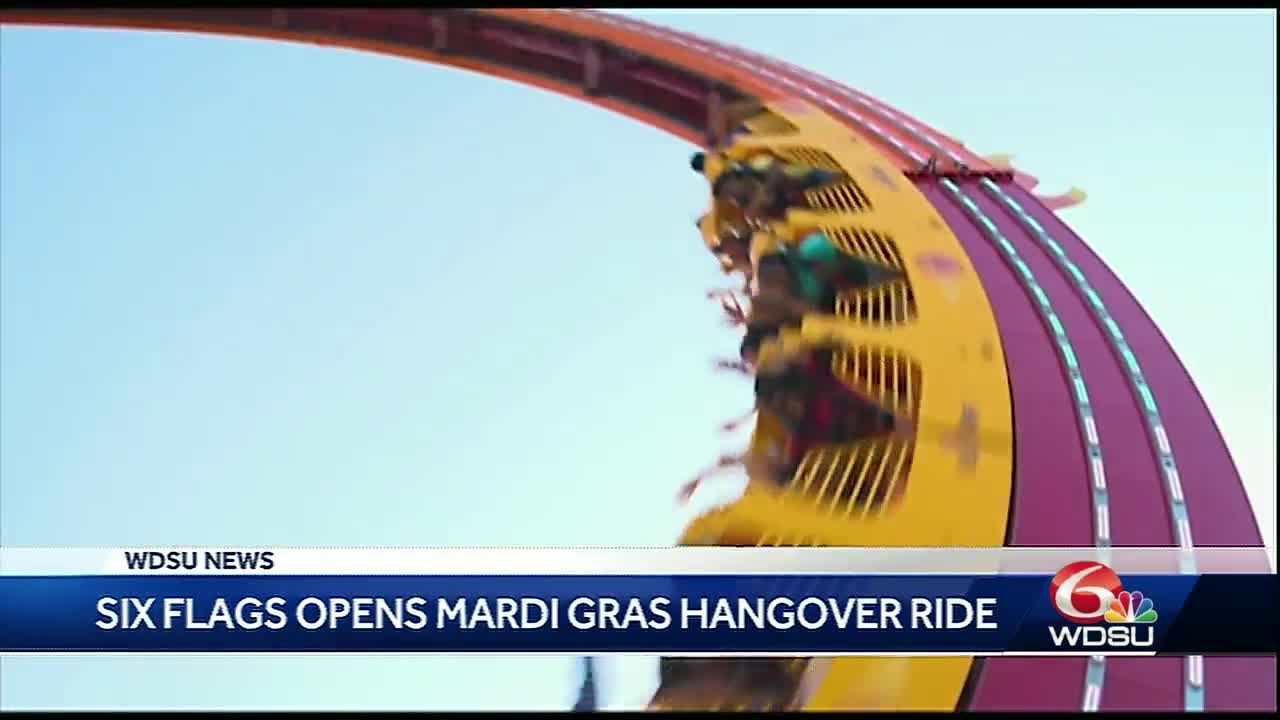 Six Flags roller coaster gives people a 'Mardi Gras Hangover'