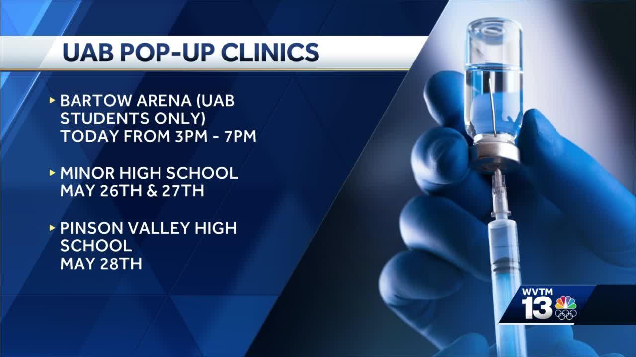 UAB shifting focus to pop-up vaccine clinics