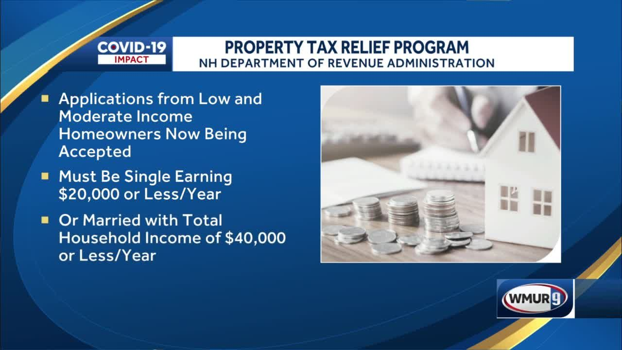 Applications being accepted for property tax relief