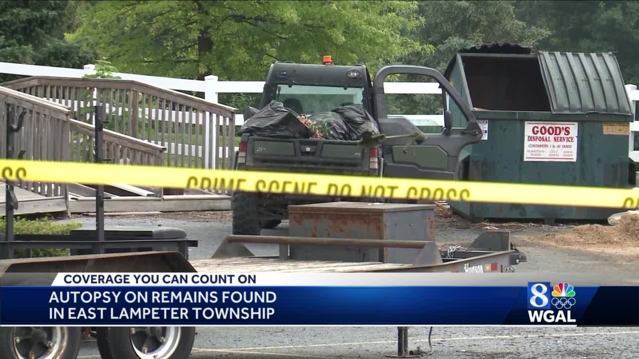Autopsy performed on human remains found in Lancaster County