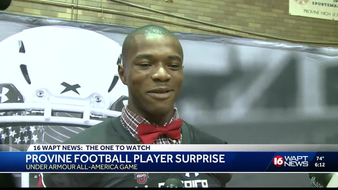 provine football player gets surprise of a lifetime