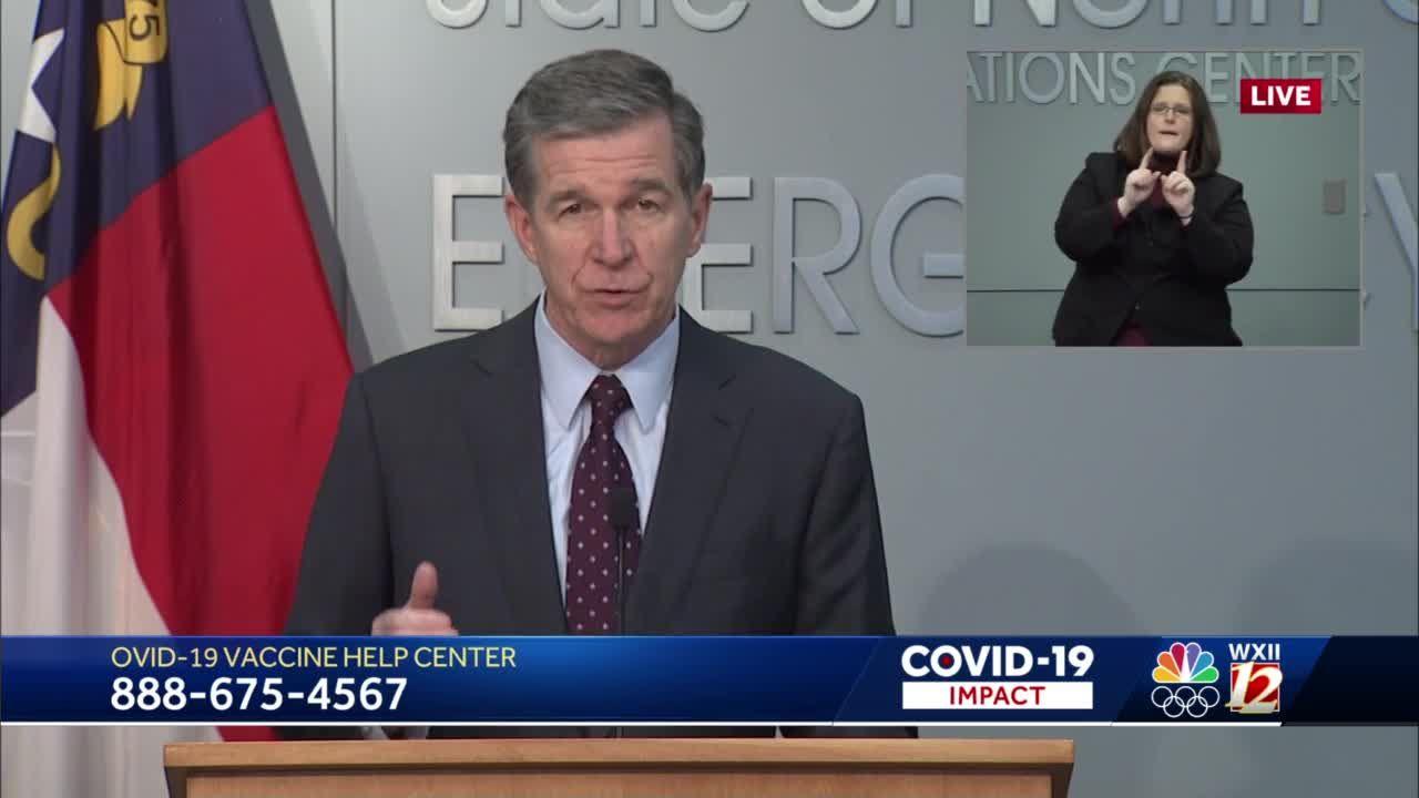 North Carolina Gov. Roy Cooper announces new executive order