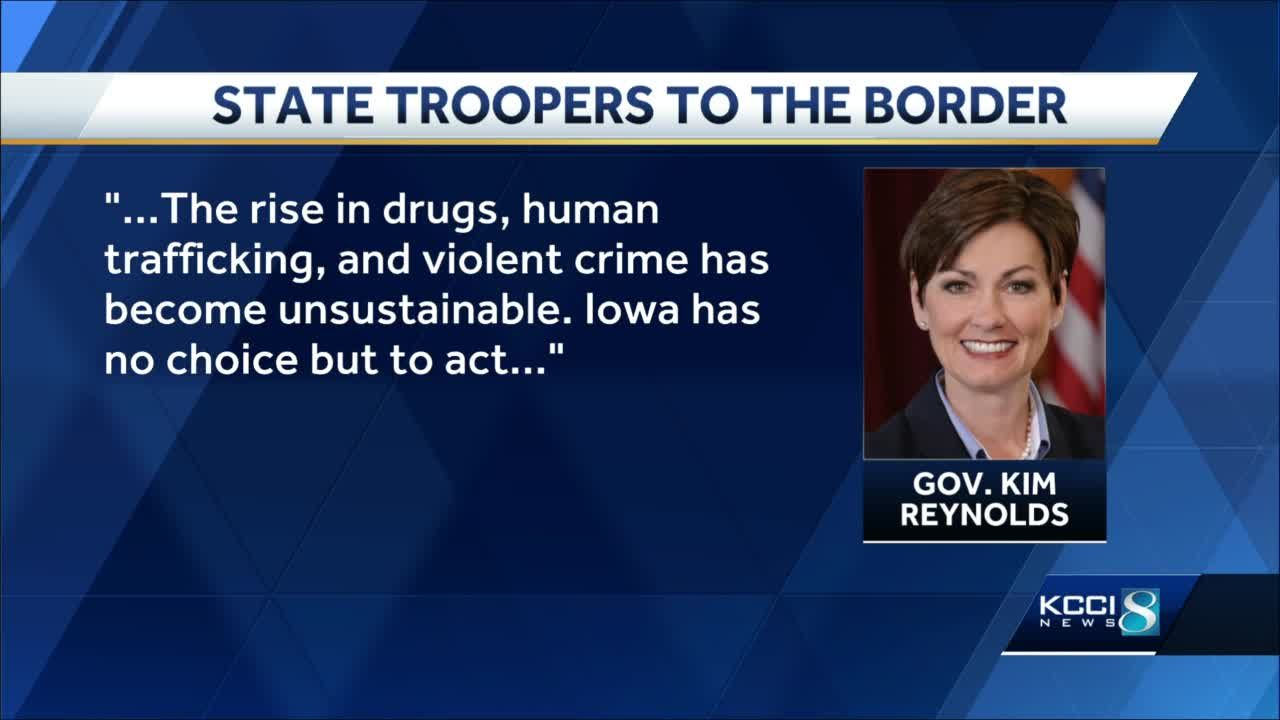 Gov. Reynolds to deploy Iowa State Patrol officers to U.S. southern border