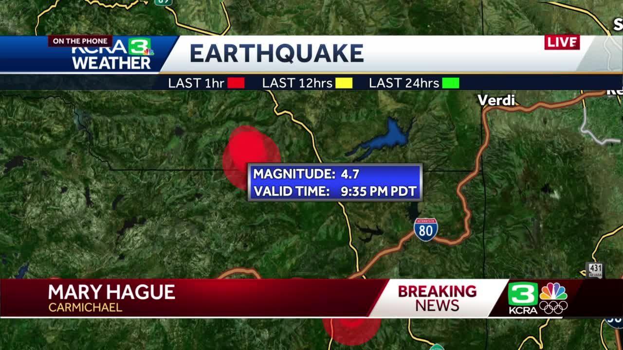 4.7 earthquake strikes near Truckee area