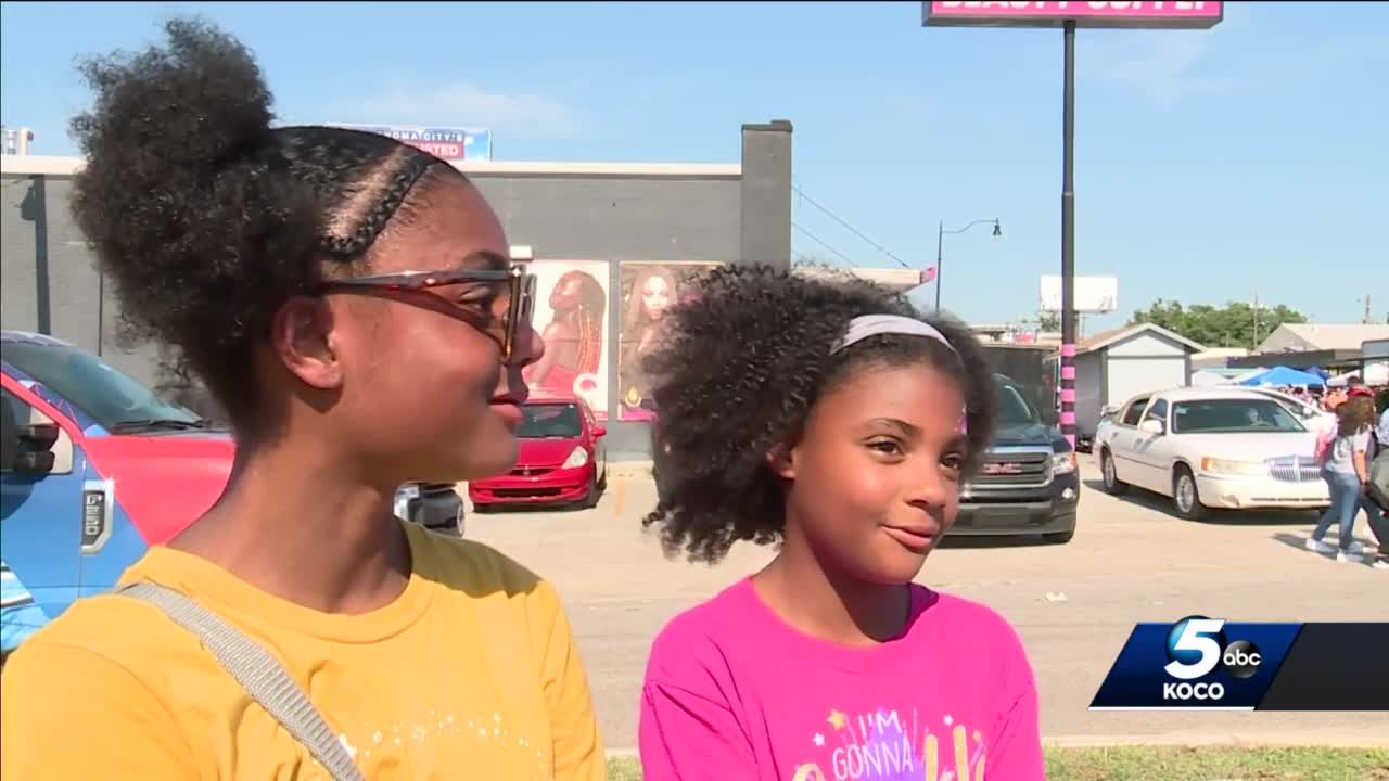 Girls inspired by community during Juneteenth celebration in northeast Oklahoma City