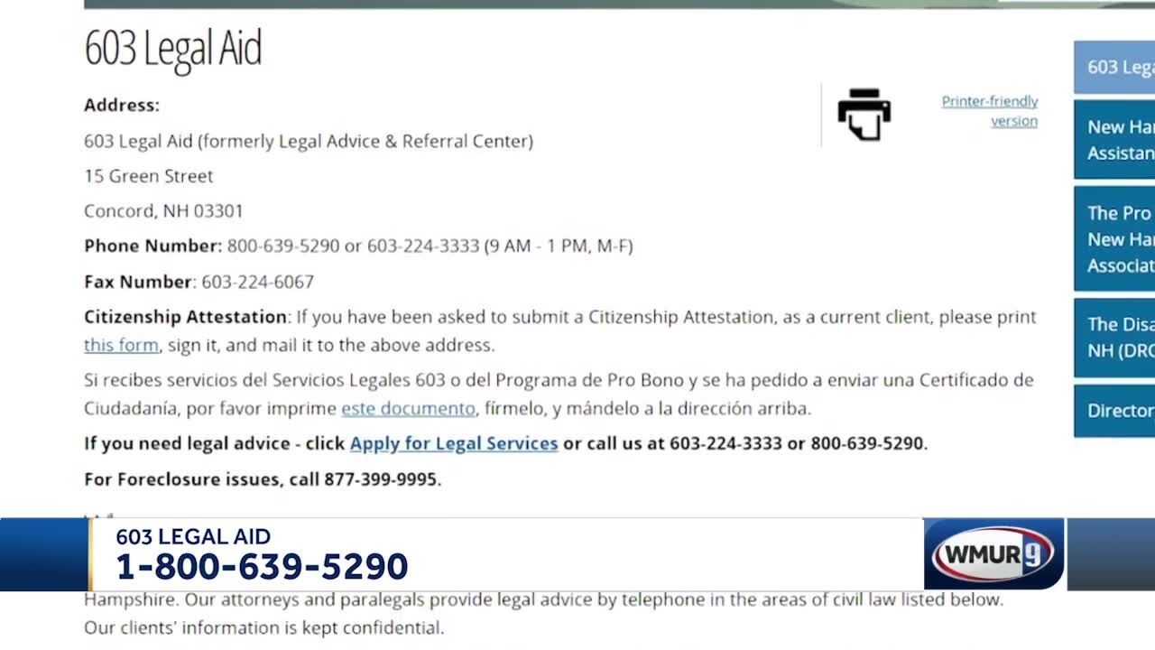 603 Legal Aid connects Granite Staters with lower incomes to free legal assistance