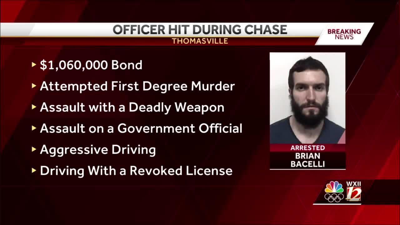 Thomasville police officer injured in crash during capture of Rowan County suspect