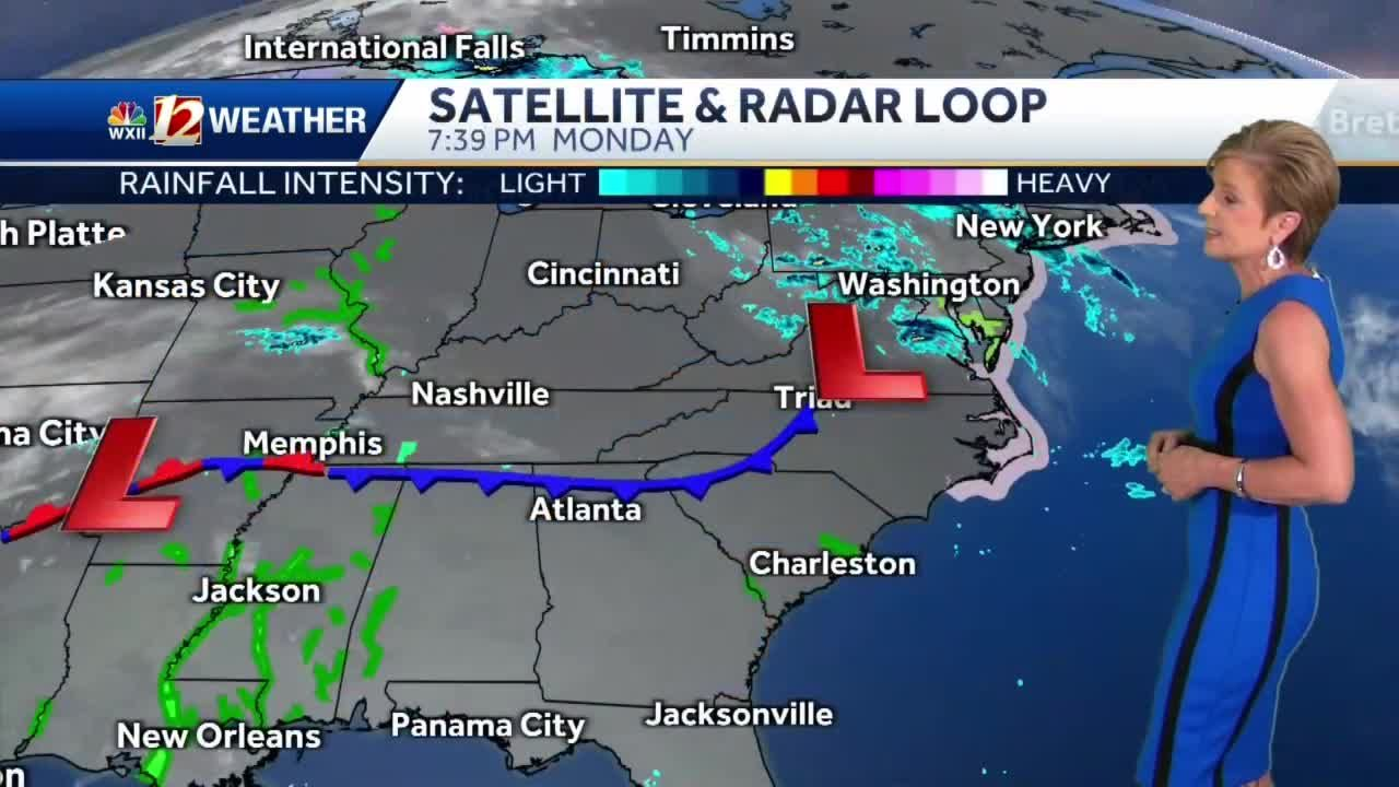 WATCH: Clouds and rain returning midweek