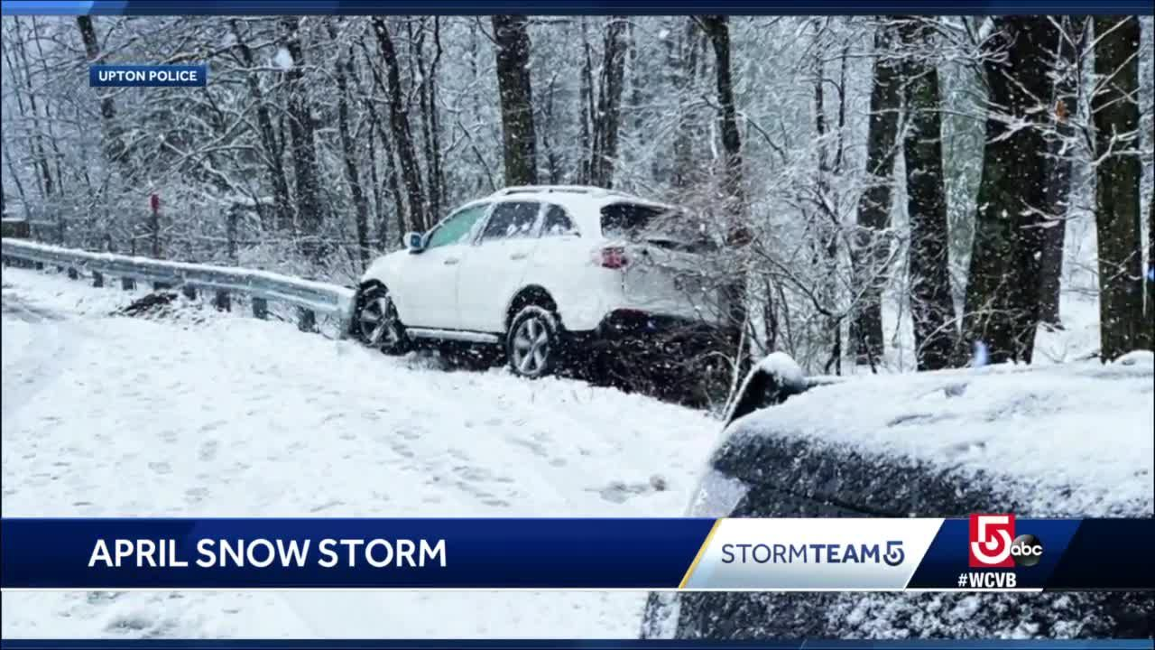 April nor'easter dumps snow across region