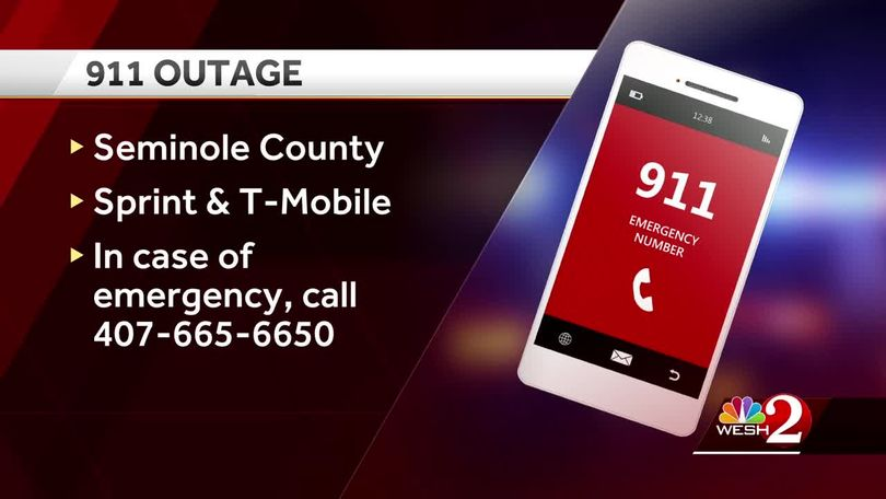 911 services restored in Seminole County after wireless