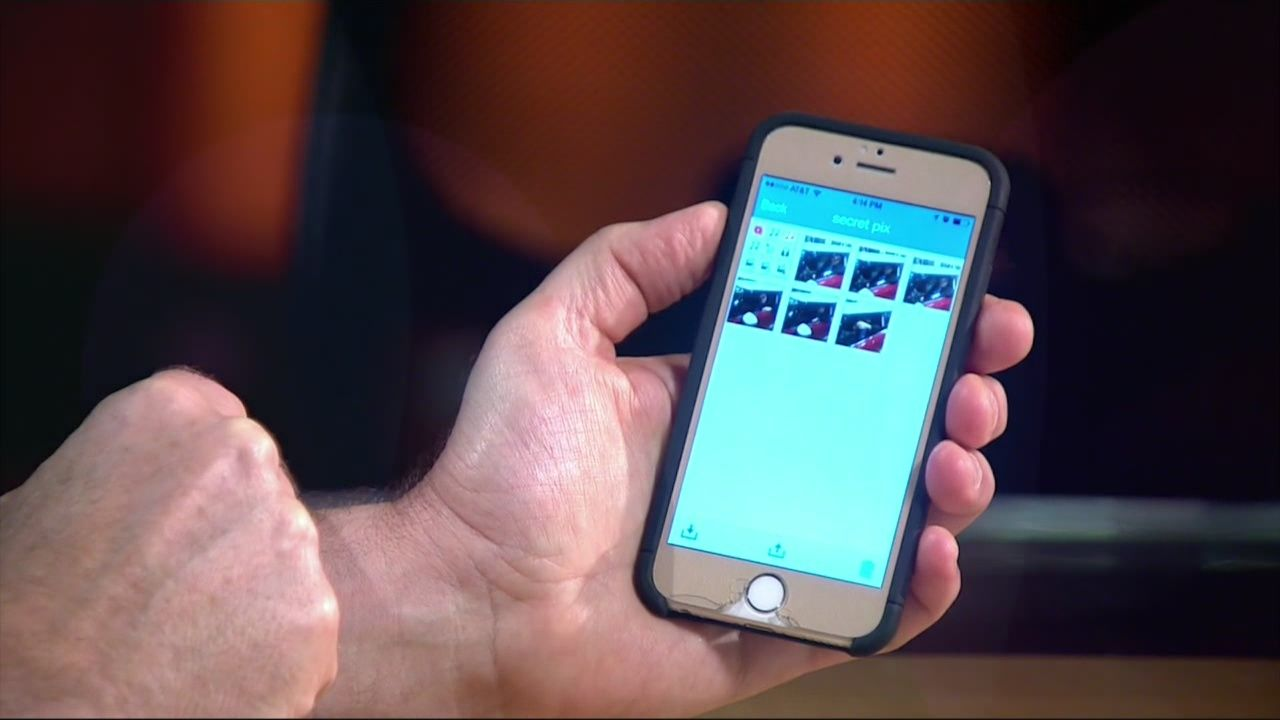 Secret apps at the center of a sexting scandal