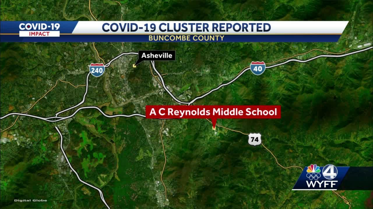 COVID-19 cluster identified at Buncombe County middle school
