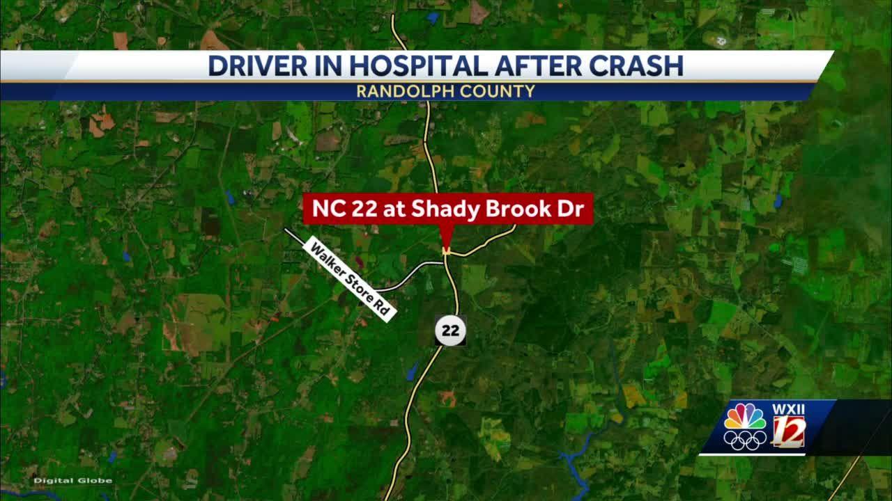 Randolph County highway crash injures driver, flown to hospital