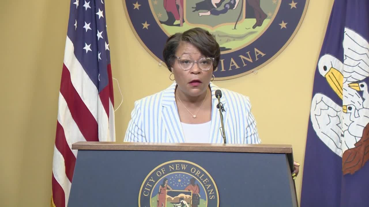 Mayor Cantrell addresses proposal to move City Hall