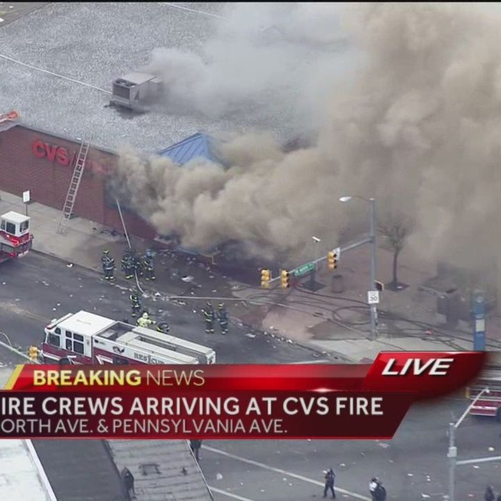cvs pharmacy set on fire