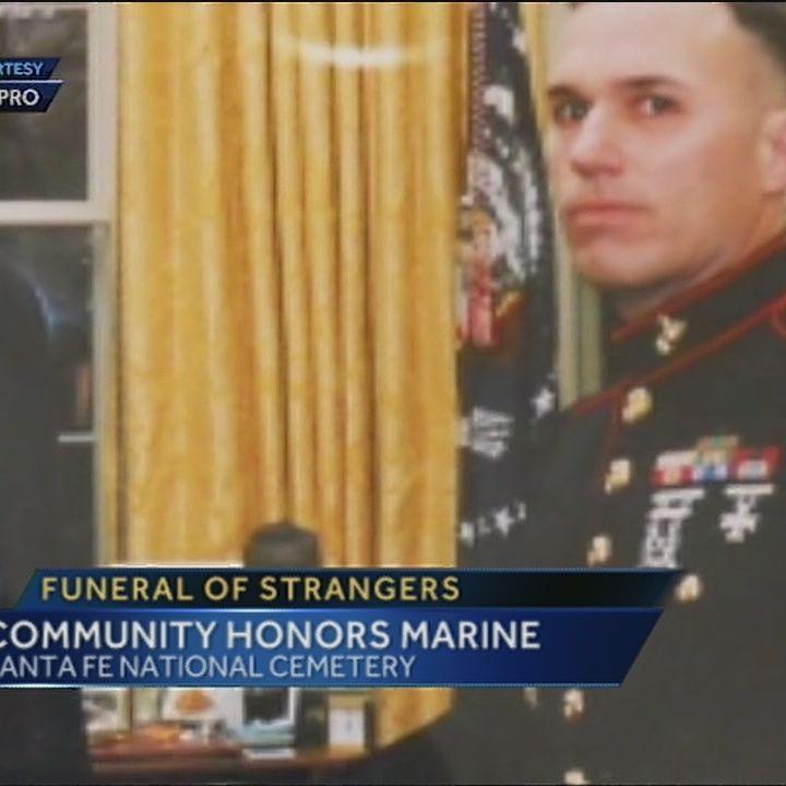 Strangers make sure Marine's life is celebrated