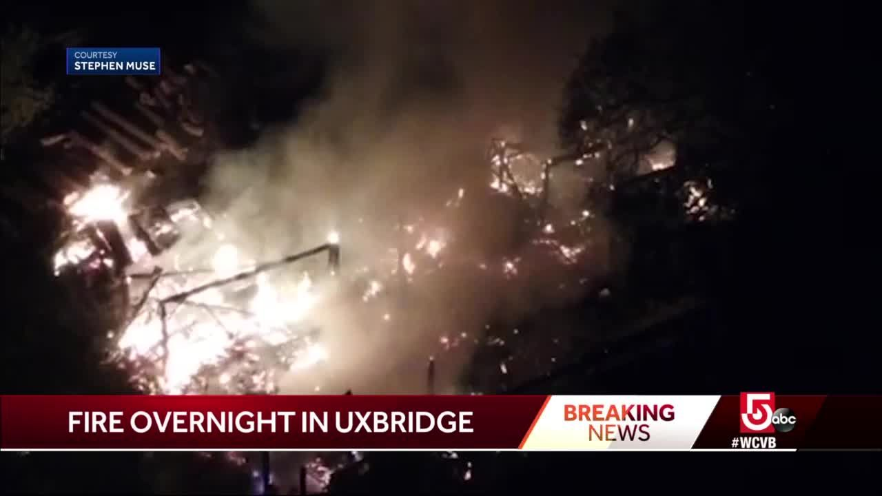 Saw mill goes up in flames in Uxbridge