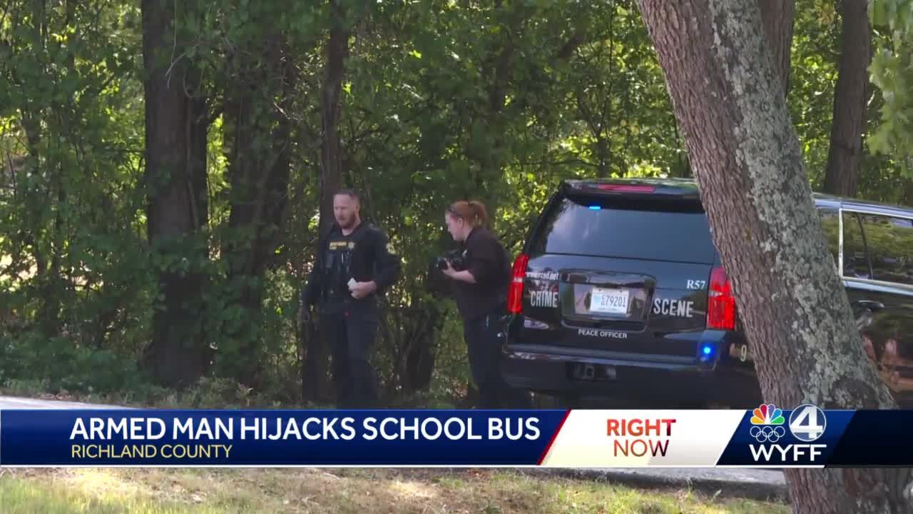 Fort Jackson trainee arrested after hijacking school bus full of children, deputies say