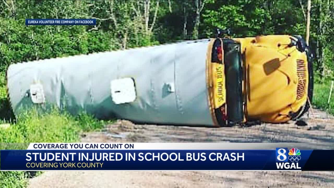 One student injured in school bus crash in York County