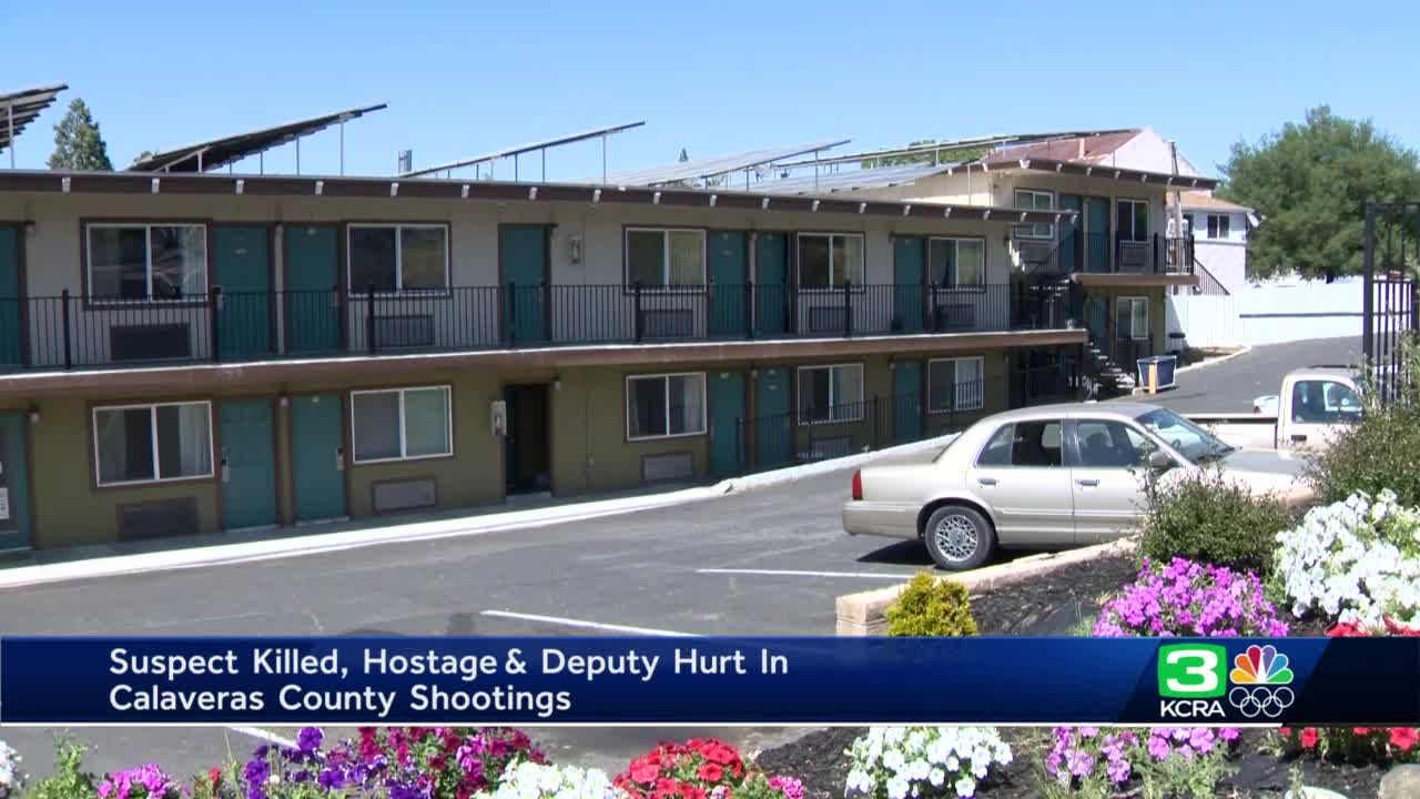 Suspect killed, hostage and deputy hurt in Calaveras County shootings