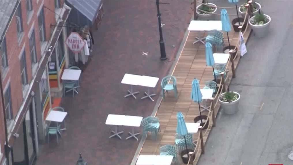Newburyport unveils new outdoor dining parklets