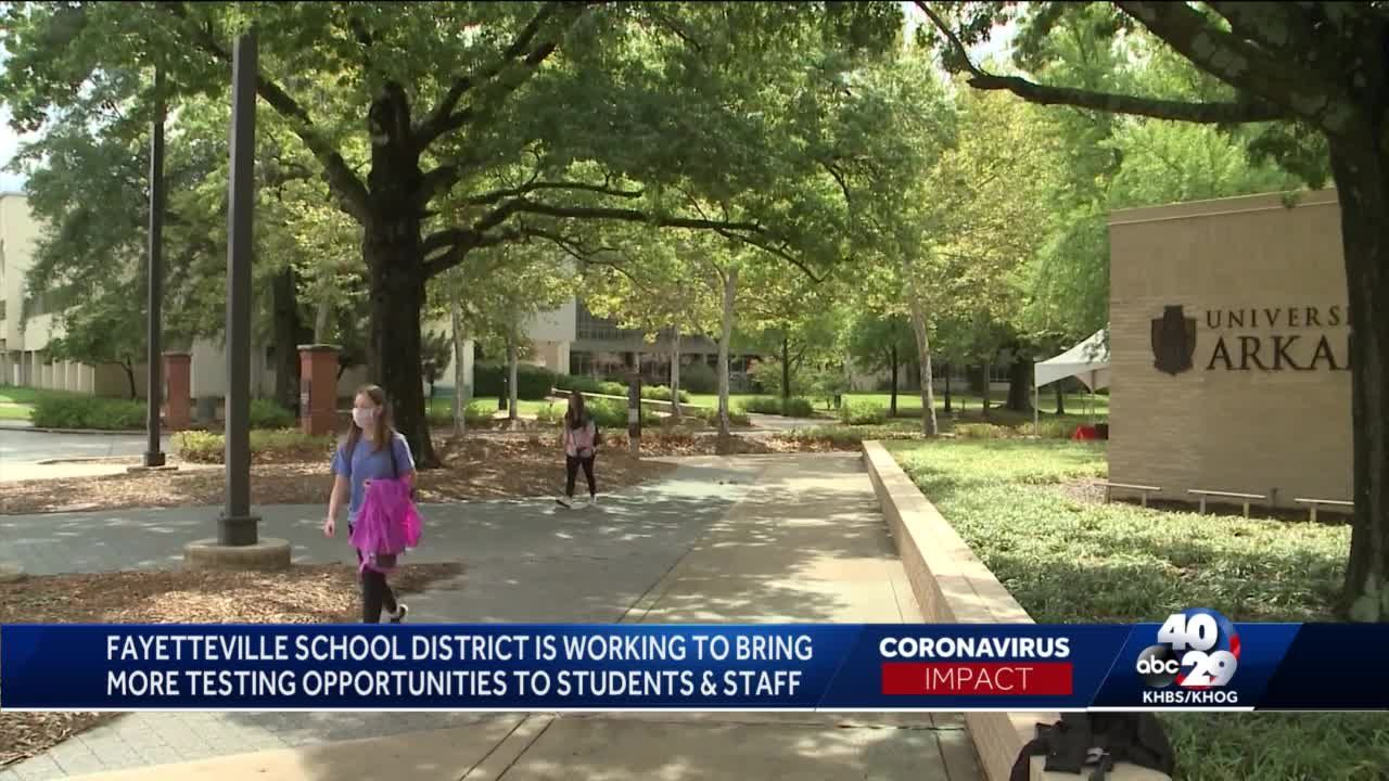 Fayetteville school district working to bring more testing opportunities to students and staff