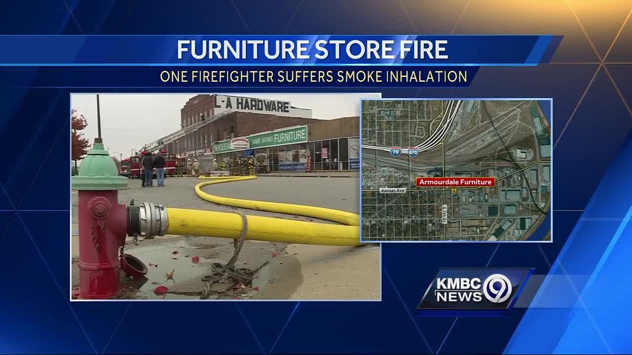 Great Firefighter Injured After Three Alarm Blaze At A KCK Furniture Store
