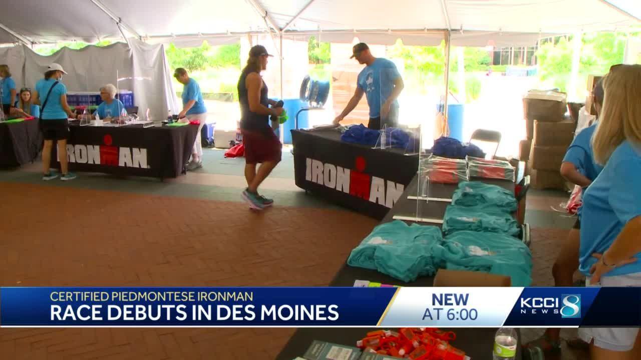 Athletes swarm to Des Moines for Iornman's half triathlon