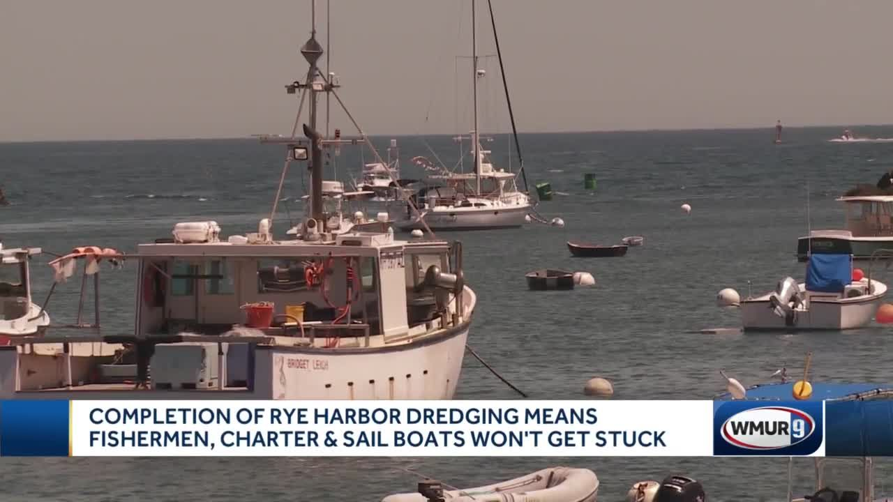Dredging projects allows boats to pass freely in Rye Harbor