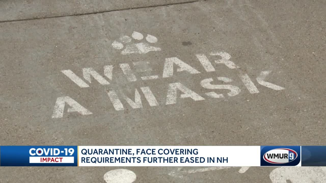 Quarantine, face covering requirements further eased in NH
