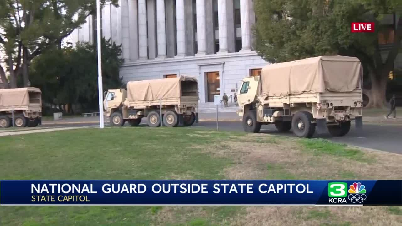 National Guard troops arrive in Sacramento ahead of possible protests