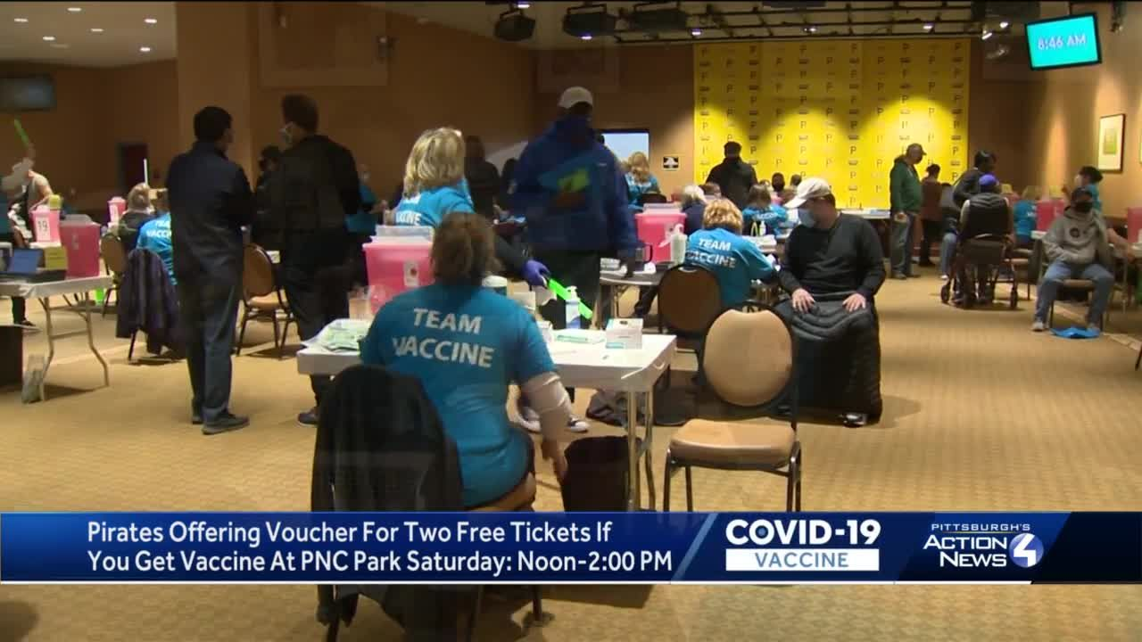 Pirates offering free tickets for COVID-19 vaccine