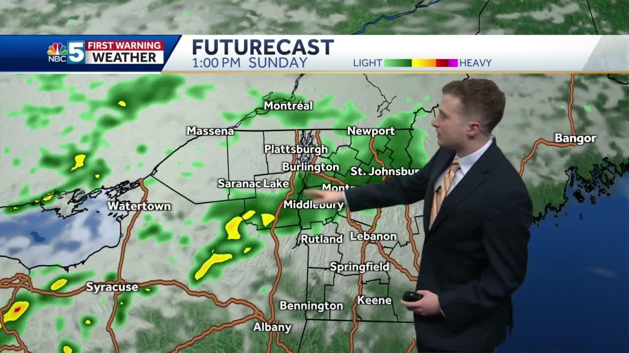 Video: Nice Saturday, rainy Sunday (7-31-21)
