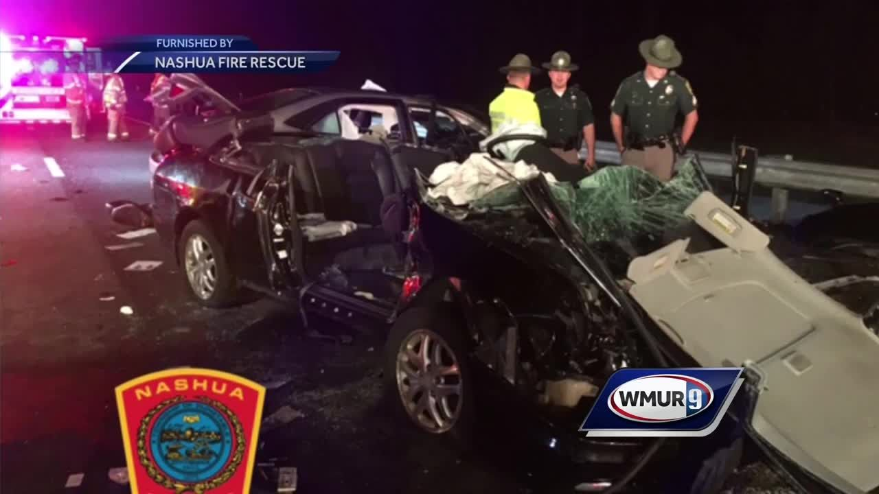 WATCH: Wrong way driver causes serious accident on Everett Turnpike