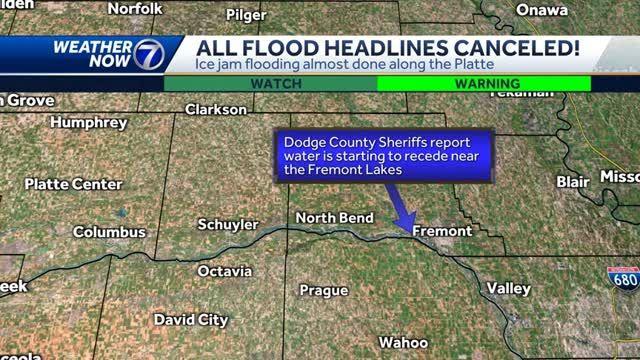 Dry weekend, Flood Warnings canceled on Platte River