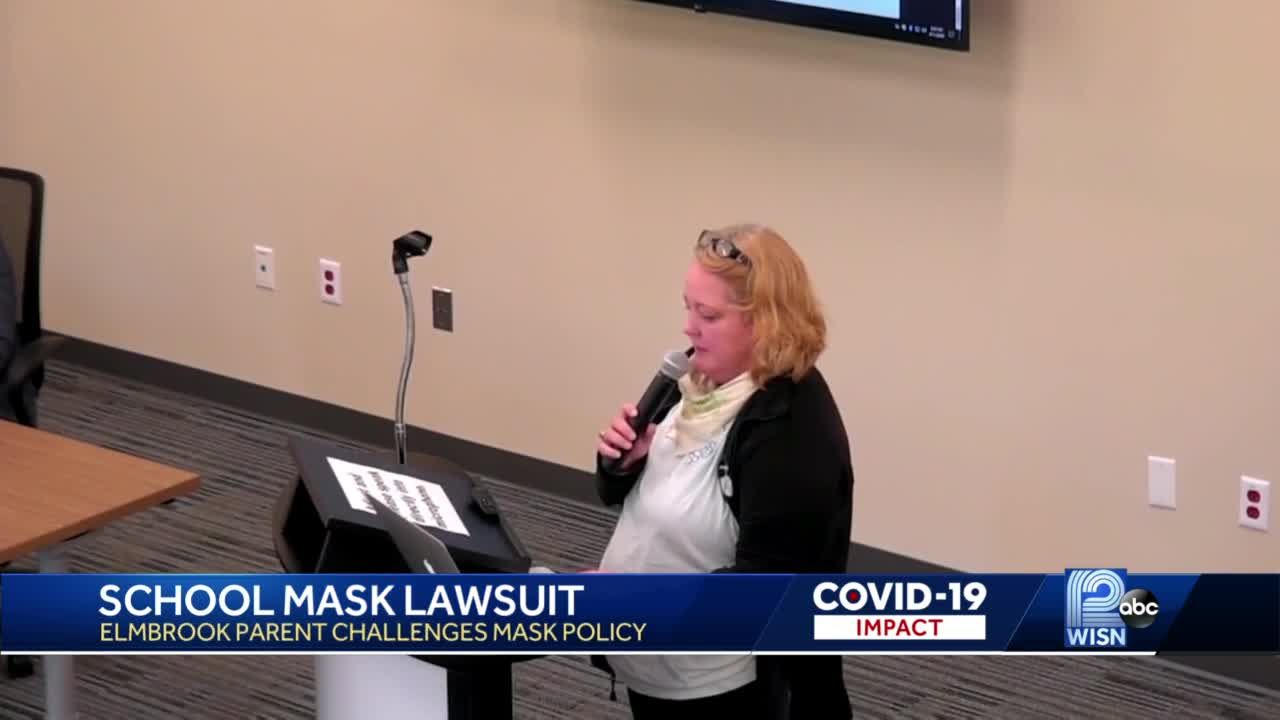 Mom sues school over mask mandate