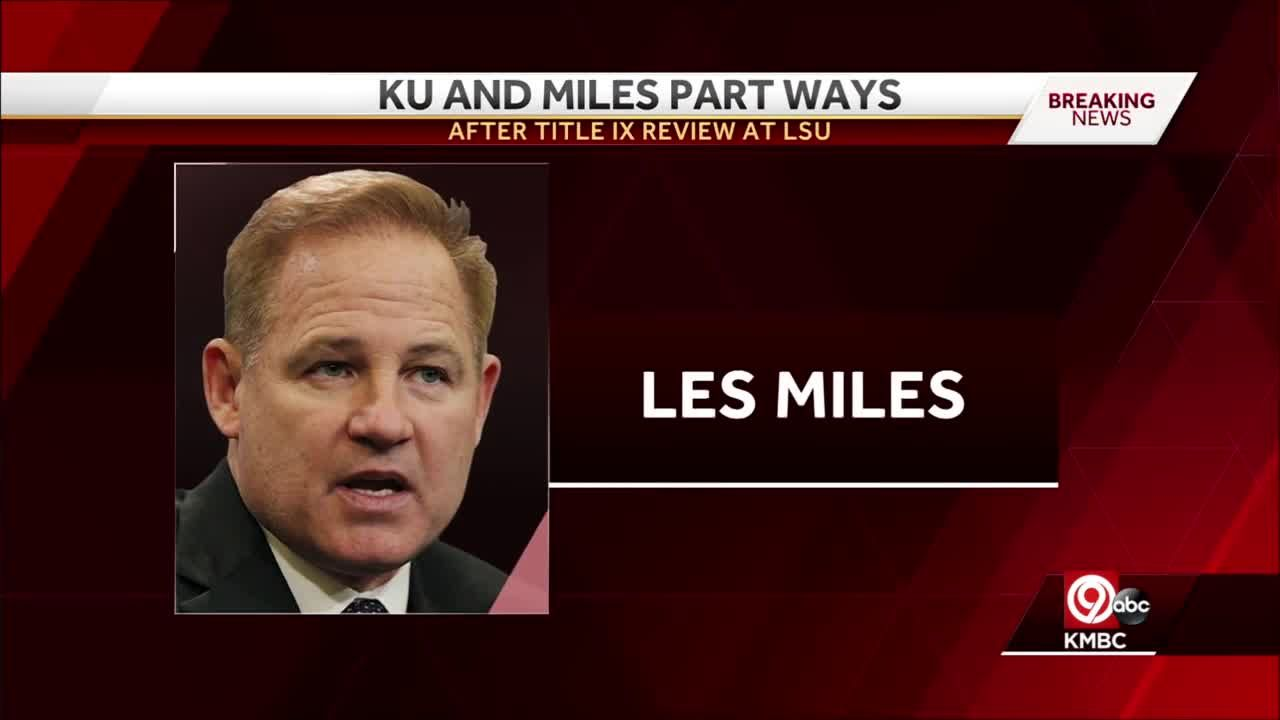 KU, Les Miles go their separate ways