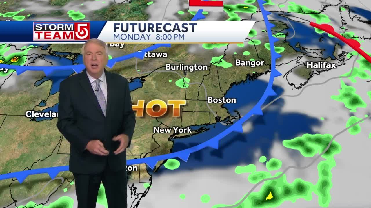 Video: Temperatures to approach 90 on Monday with high humidity