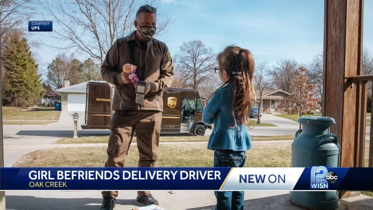 5-year-old girl, UPS driver share special bond