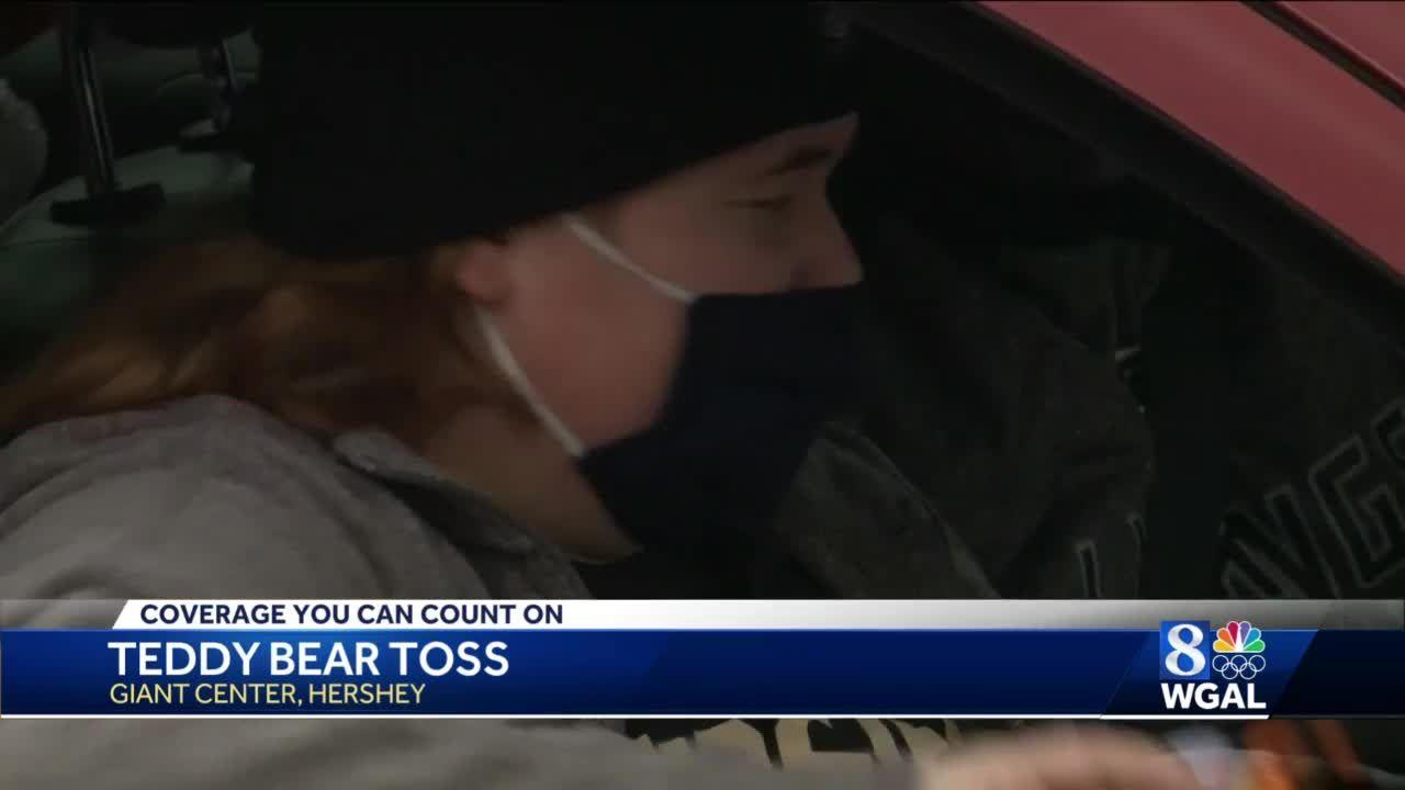 Drive-thru Teddy Bear Toss with the Hershey Bears