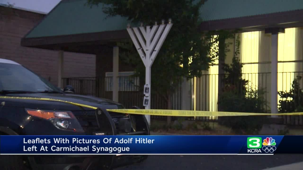 'We are not afraid of who did this': Pictures of Adolf Hitler posted on Carmichael synagogue