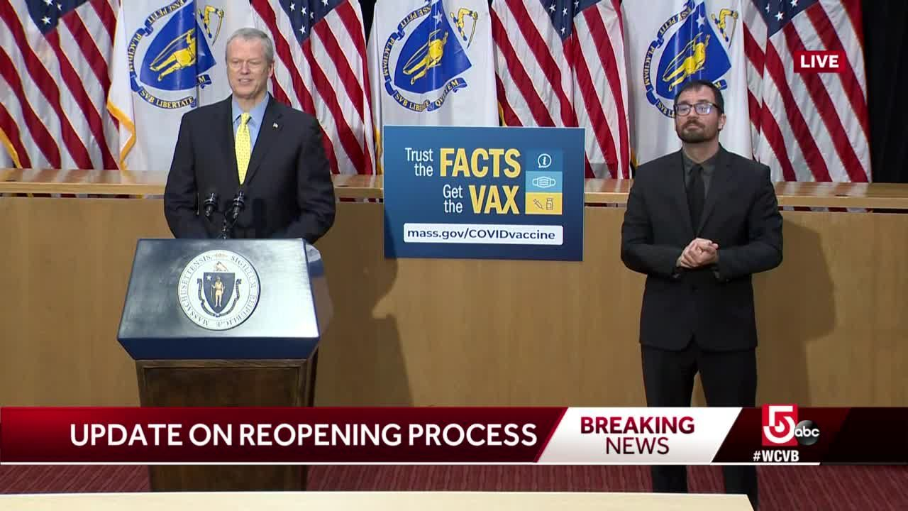 Baker sets date for all COVID-19 restrictions to be lifted in Massachusetts