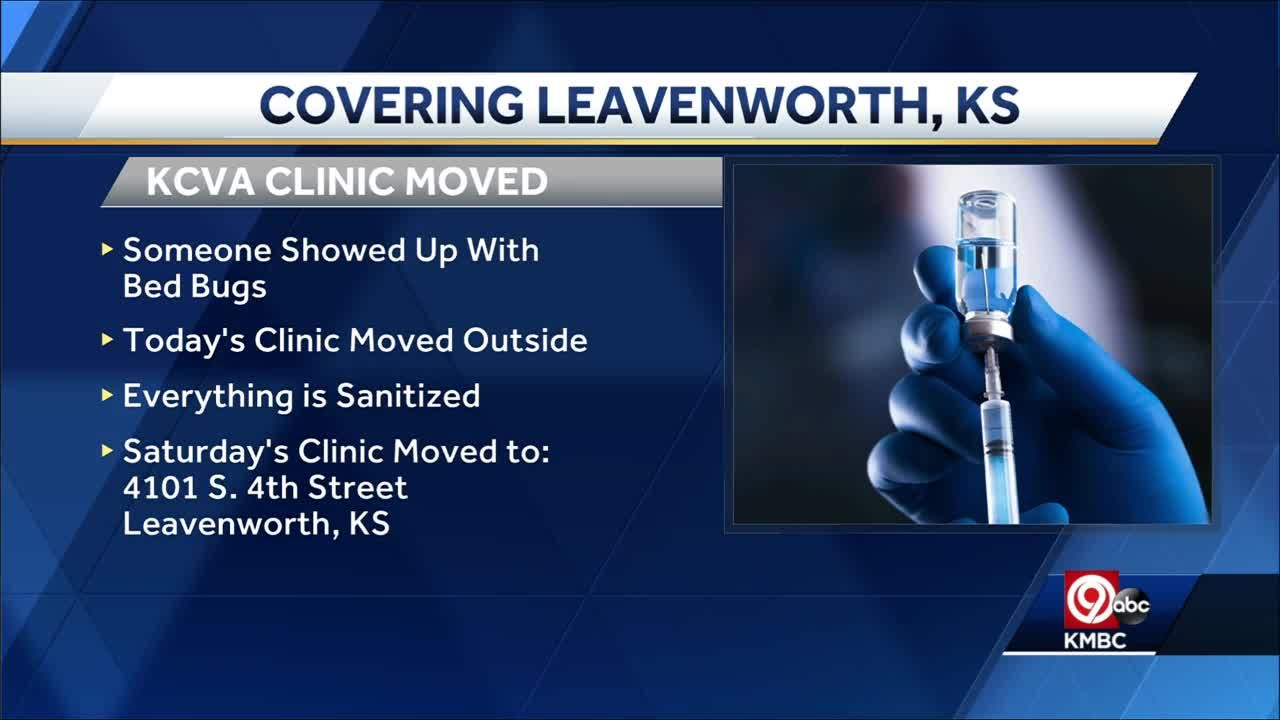 Bed bug issue forces Leavenworth VA COVID-19 clinic to move outdoors
