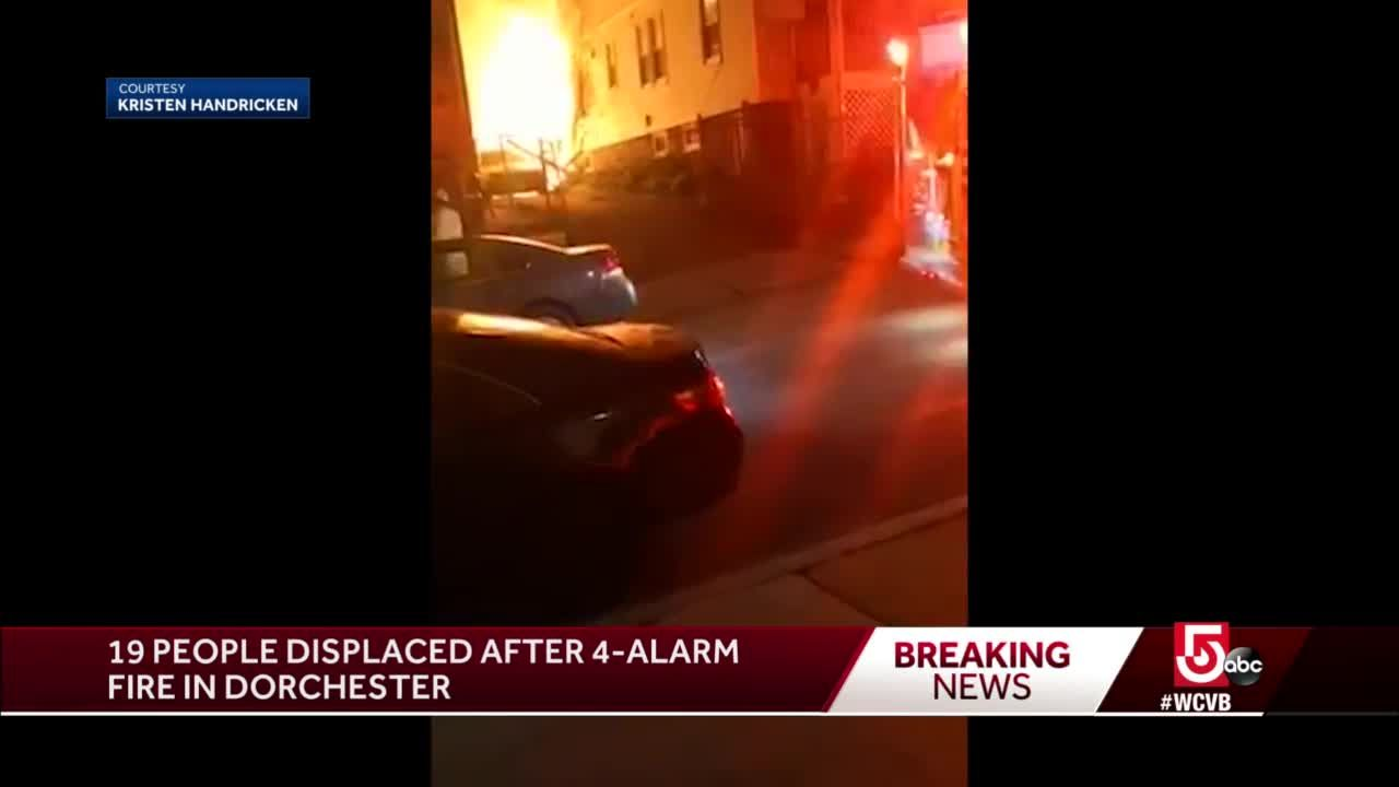 Intense flames captured on video by displaced resident