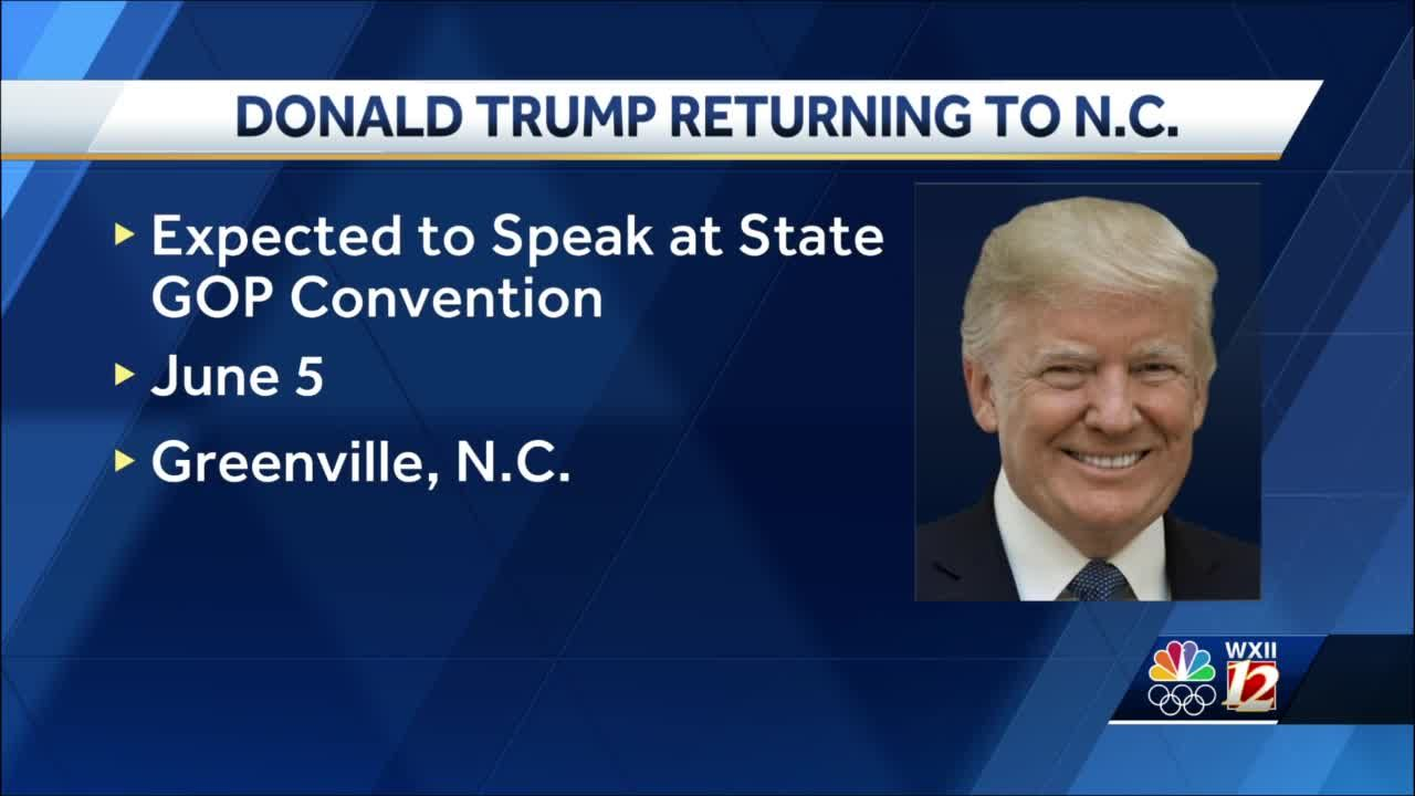 North Carolina: Donald Trump returning to Tar Heel State for GOP state convention
