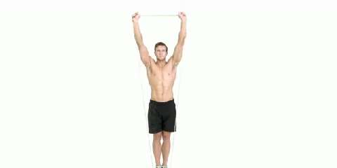 how to do the resistance band shoulder press