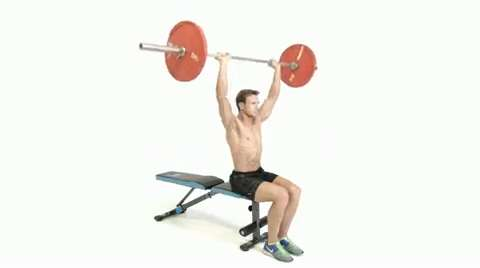 How To Do The Seated Barbell Shoulder Press