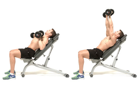 how to do the 45 degree incline dumbbell chest press